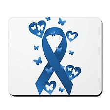 Blue Awareness Ribbon Mousepad