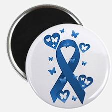 "Blue Awareness Ribbon 2.25"" Magnet (10 pack)"