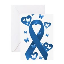 Blue Awareness Ribbon Greeting Card