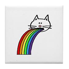 Rainbow Cat (large) Tile Coaster