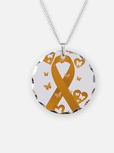 Orange Awareness Ribbon Necklace