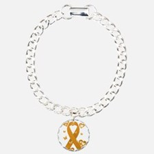 Orange Awareness Ribbon Bracelet