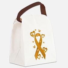 Orange Awareness Ribbon Canvas Lunch Bag