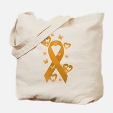 Orange Awareness Ribbon Tote Bag