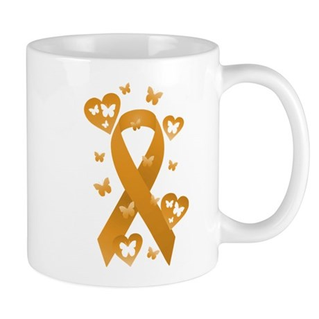 Orange Awareness Ribbon Mug