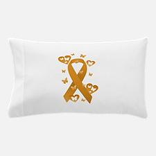 Orange Awareness Ribbon Pillow Case