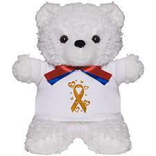 Orange Awareness Ribbon Teddy Bear