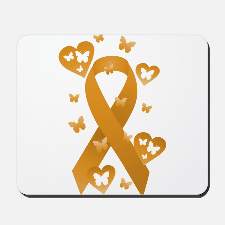 Orange Awareness Ribbon Mousepad