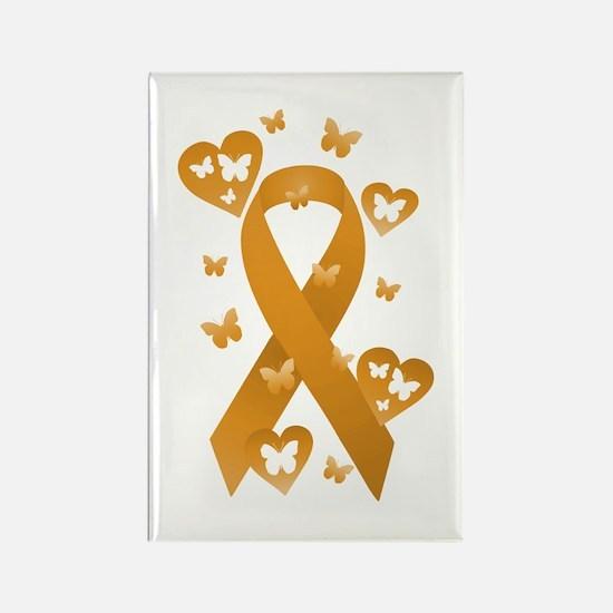 Orange Awareness Ribbon Rectangle Magnet
