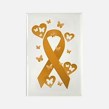 Orange Awareness Ribbon Rectangle Magnet (10 pack)