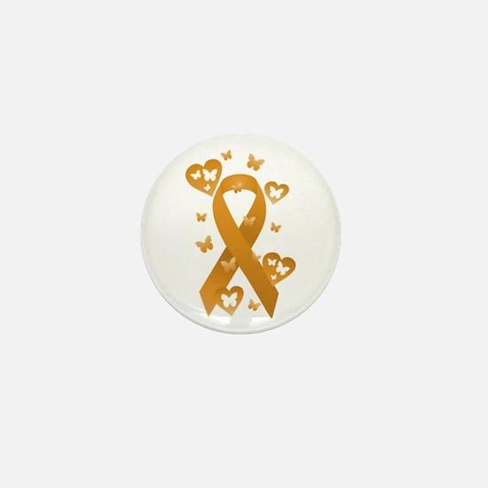 Orange Awareness Ribbon Mini Button
