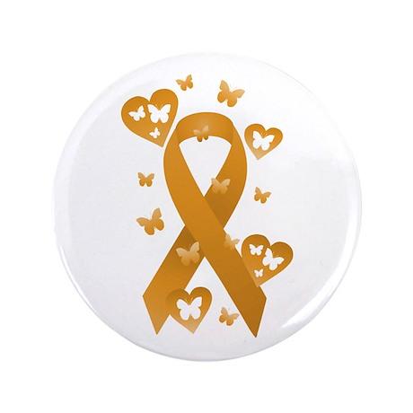 """Orange Awareness Ribbon 3.5"""" Button"""