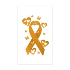 Orange Awareness Ribbon Decal