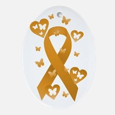 Orange Awareness Ribbon Ornament (Oval)