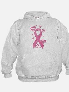 Pink Awareness Ribbon Hoodie