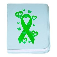 Green Awareness Ribbon baby blanket