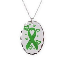 Green Awareness Ribbon Necklace