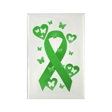 Green Awareness Ribbon Rectangle Magnet