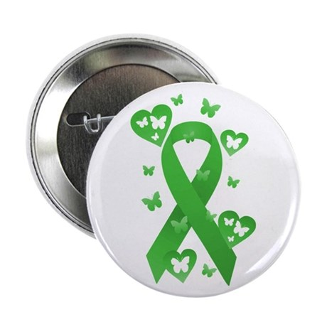 "Green Awareness Ribbon 2.25"" Button (10 pack)"