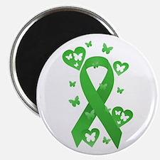 """Green Awareness Ribbon 2.25"""" Magnet (100 pack)"""