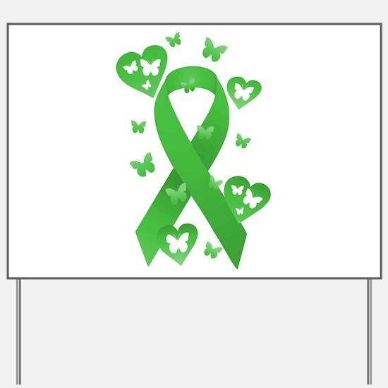 Green Awareness Ribbon Yard Sign