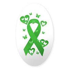 Green Awareness Ribbon Bumper Stickers