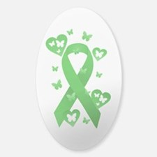 Green Awareness Ribbon Decal