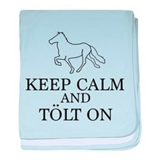 Keep Calm and Tolt On baby blanket