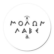 Molon Labe - Script Round Car Magnet