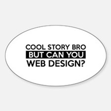 Web Design job gifts Decal