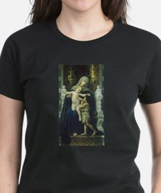 The Virgin, Baby Jesus and St John Women's Dk T-