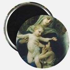 The Virgin, Baby Jesus and St John Magnet