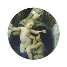 The Virgin, Baby Jesus and St Ornament (Round)