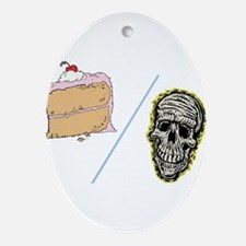 Cake or Death Ornament (Oval)