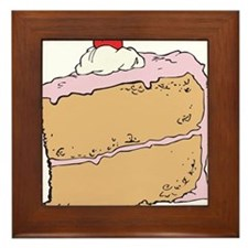 Cake or Death Framed Tile