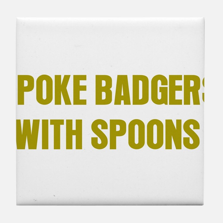 Poke Badgers Tile Coaster