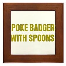 Poke Badgers Framed Tile