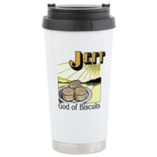 God of Biscuits Travel Coffee Mug