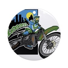 Biker Zooom Ornament (Round)