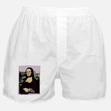MONA LISA with GUN Boxer Shorts