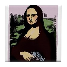 MONA LISA with GUN Tile Coaster