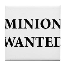 Minion Wanted Tile Coaster
