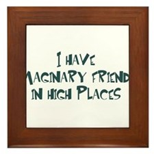 imaginary friends Framed Tile