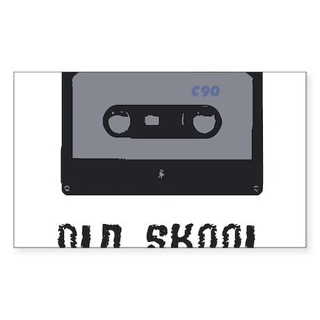 old school cassette Sticker (Rectangle)