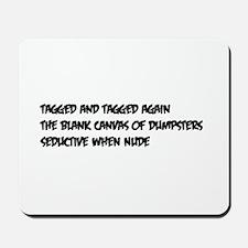 dumpster haiku Mousepad