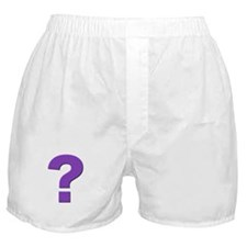 Question mark, purple, t shirts, mugs,gifts Boxer