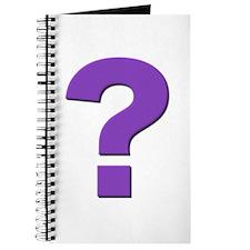 Question mark, purple, t shirts, mugs,gifts Journa