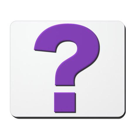 Question mark, purple, t shirts, mugs,gifts Mousep