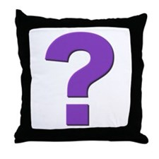 Question mark, purple, t shirts, mugs,gifts Throw