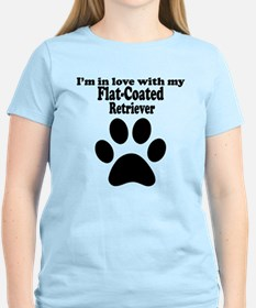 Im In Love With My Flat-Coated Retriever T-Shirt